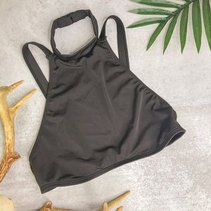 Out From Under Black Halter Open Back Bikini Top